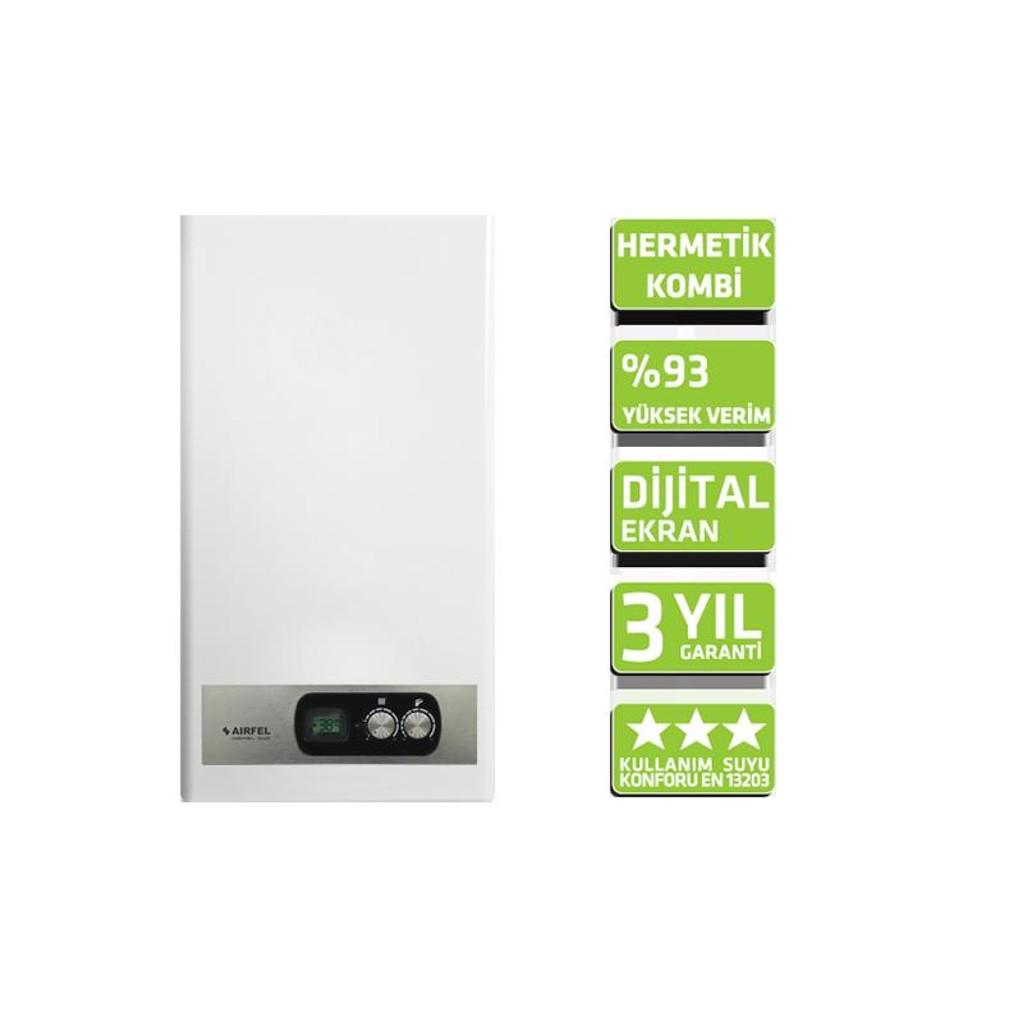 Airfel Digifel Duo 24 KW Hermetik Kombi 1750 TL (KDV Dahil)
